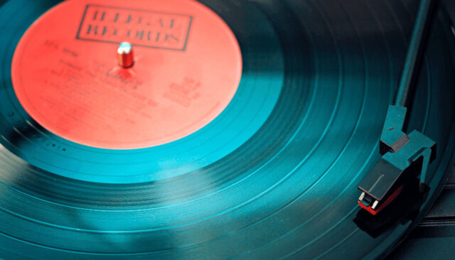 レコード盤のアップ