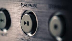 オーディオの再生ボタン