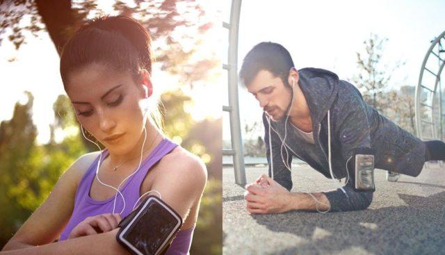 運動しながら音楽を聴く
