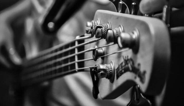 ギターチューニング白黒