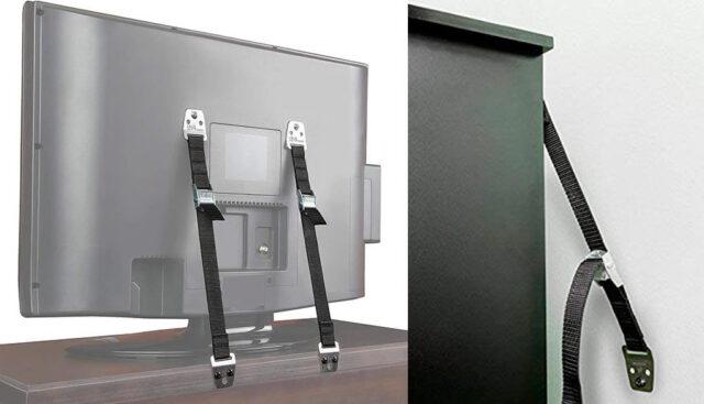 TVの転倒防止用ベルト