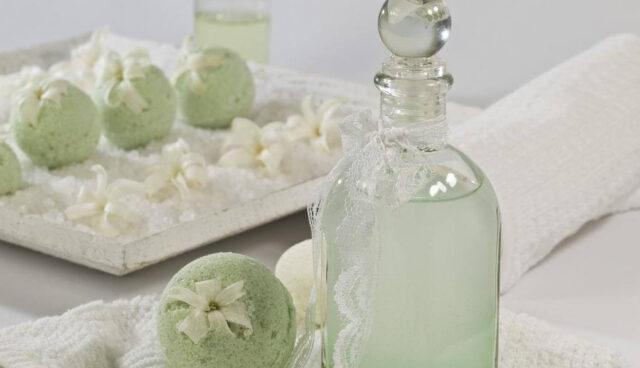 グリーンの入浴剤