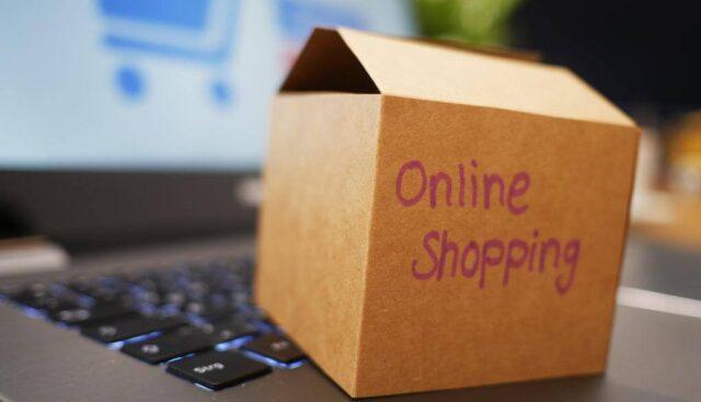 オンラインショッピングの購入箱