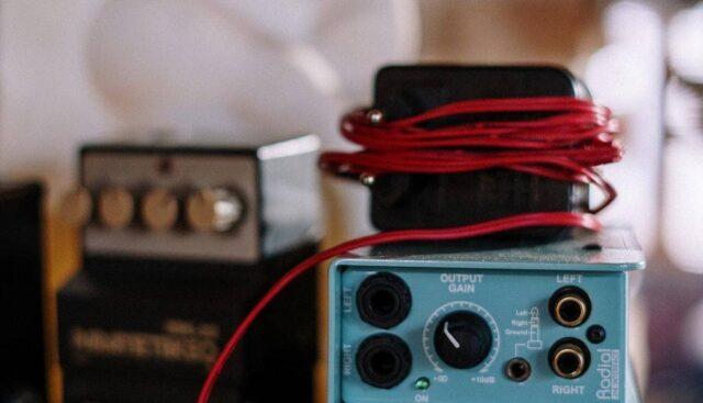 水色のデジタルアンプ