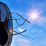 夏の空と扇風機