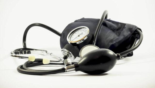 血圧計が置かれている